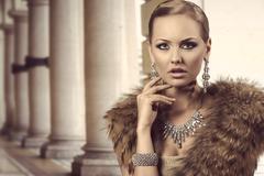 Charming rich fashion lady Kuvituskuvat