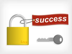 Key to success. success concept. Stock Illustration