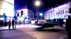 Piccadilly Night Wide Timelapse 4096x2160 graded Stock Footage