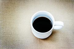 Americano coffee on rattan Stock Photos