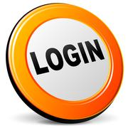 login icon - stock illustration