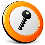 Key icon Stock Illustration