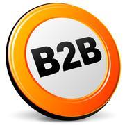 b2b icon - stock illustration