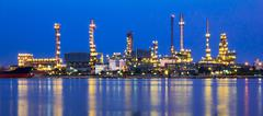 Stock Photo of Refinery plant