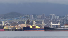 Time lapse of a busy port - stock footage