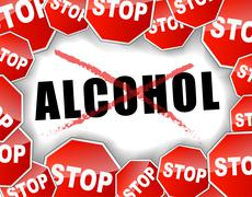 stop alcohol - stock illustration