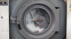 Rubber industry - wash machine in a factory Stock Footage