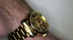Wristwatch In The Man's Hand 1 Stock Footage