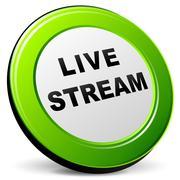 3d live stream icon - stock illustration