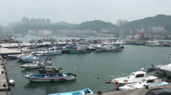 Port in Taiwan Stock Footage