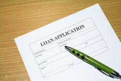 loan application. - stock photo