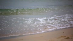 Wave of the sea on  sandy beach. HD. 1920x1080 Stock Footage