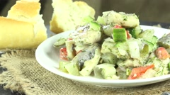 Homemade herring salad (loopable) Stock Footage