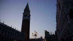 Campanile in Venice Stock Footage