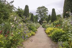 Path in garden Stock Photos