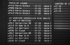 Train schedule for trains leaving paris Kuvituskuvat