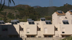 Solar power on roofs. Andalucia Stock Footage