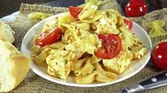 Seamless loopable pasta salad Stock Footage