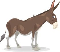 Stock Illustration of funny donkey cartoon illustration