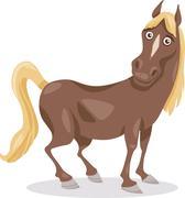 Stock Illustration of funny horse cartoon illustration