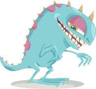 Fantasy monster cartoon illustration Stock Illustration