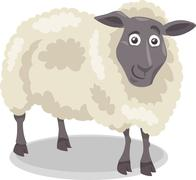 Stock Illustration of sheep farm animal cartoon illustration