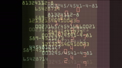 Technology concept: hex-code digital background Stock Footage