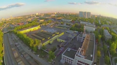 Cityscape with trade and entertainment center Podsolnuhi Stock Footage