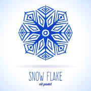 Stock Illustration of Doodle snow flake