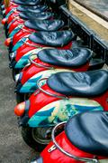 Original scooter seats Stock Photos