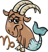 Capricorn or the sea goat zodiac sign Piirros