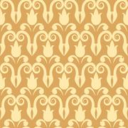 vector seamless patterns (tiling). endless texture - stock illustration