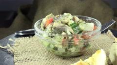 Herring salad (seamless loopable) Stock Footage