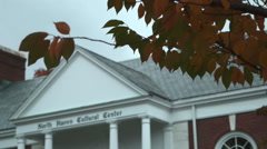 Historical society in North Haven - close-up shot - stock footage