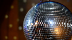 Disco Mirror Ball Center Wide Stock Footage