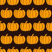 Pumpkin seamless pattern Stock Illustration