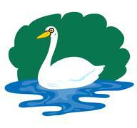 swan - stock illustration