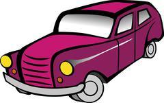 Old pink car Piirros