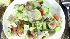 Herring salad (not loopable) Stock Footage