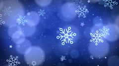 Christmas Blue Flakes Backgrounds - stock footage