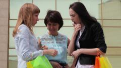 Shopping girls Stock Footage
