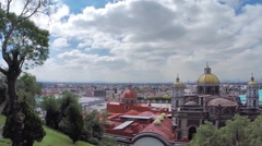 Mexico city and old and new basilicas Stock Footage