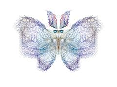 Fractal Butterfly - stock illustration