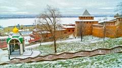 Nizhny Novgorod.  Kremlin wall Stock Footage