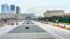 3D Memorial on Poklonnaya Hill Stock Footage