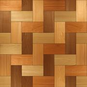 Wooden rectangular parquet stacked for seamless background. veneer alder Stock Illustration
