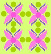 Pink flower texture over green background Stock Illustration