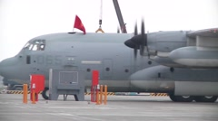 C-130 Hercules Transport and refueling aircraft Stock Footage