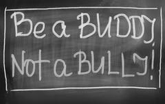 Be A Buddy Not A Bully Concept - stock illustration
