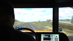 Truck Driver Simulator Training Stock Footage